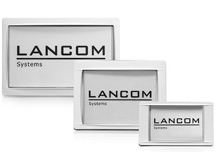 Abbildung LANCOM Wireless ePaper Display der drei verschiedenen Größen
